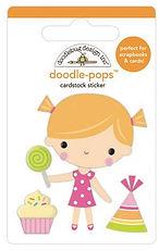 Doodlebug Design Hey Cupcake Doodle pops Birthday girl