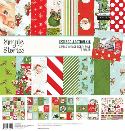 SIMPLE STORIES- SIMPLE VINTAGE NORTH POLE  - COLLECTION KIT
