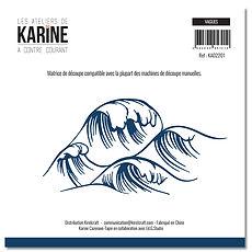 """Les  ateliers de Karine - 1 fustella """" Vagues """""""