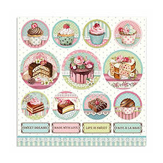 Foglio double face Mini cake rounds collezione Sweety di Stamperia