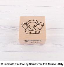 Impronte d'Autore- timbro in legno Yeti Baby