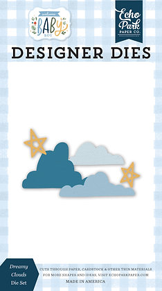 "Echo Park fustella "" Dreamy clouds  "" collezione  "" Welcome baby boy"