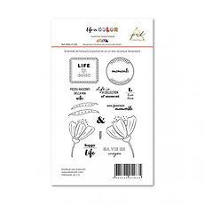 """PaperNova  Design timbri clear collezione """" Life in color """""""