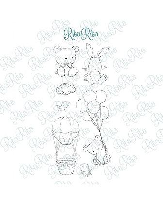 Rita Rita - Pequeno Panda  -Set timbri clear xl