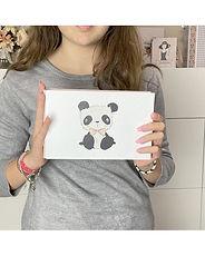 "Rita Rita - Pequeno Panda - Binder Panda Osito  4""x6"""