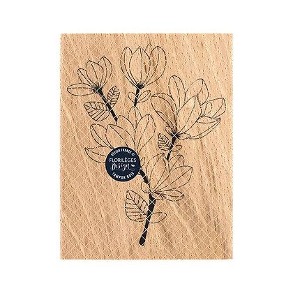 "Florileges Design Timbro in legno""Branche de magnolia """