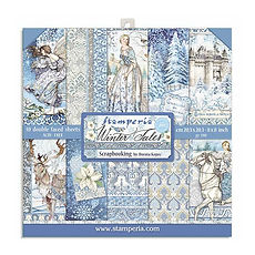 Blocco 10 fogli Double face 30,5 cm x 30,5 cm  Winter Tales di   Stamperia