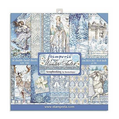 Blocco 10 fogli Double face 30,5 cm x 30,5 cm  Winter Tales di   Stamperia