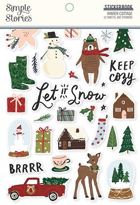 SIMPLE STORIES- WINTER COTTAGE-STICKER BOOK