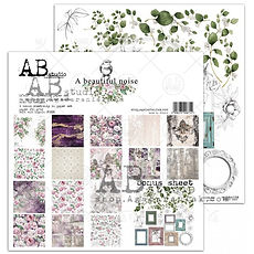 "AB STUDIO scrapbooking pad collezione "" A beautiful noise"""