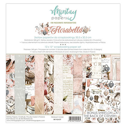 "Mintay Papers - pad 15,2cm x 15,2 cm  collezione""Florabella"""