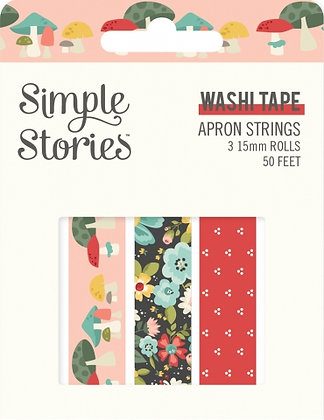 SIMPLE STORIES-APRON STRINGS -WASHI TAPE
