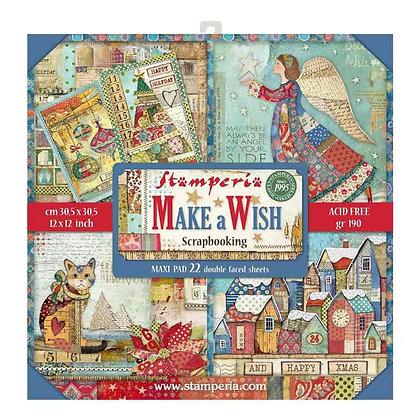 Pad scrapbooking  10   fogli collezione Make a Wish  di Stamperia