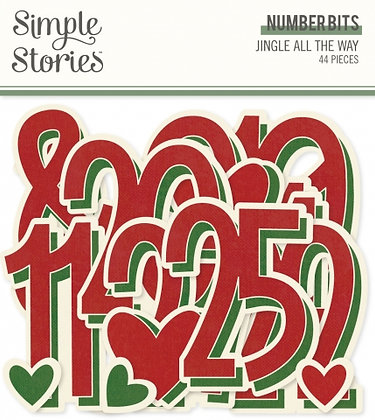 SIMPLE STORIES- JINGLE ALL THE WAY -NUMBER BITS