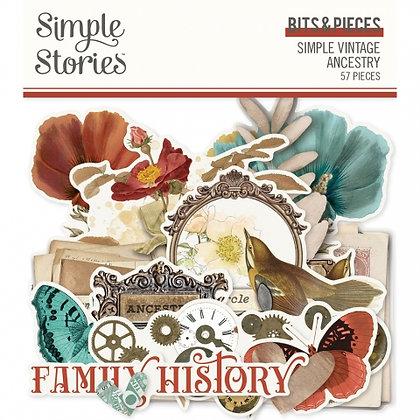 SIMPLE STORIES- SIMPLE VINTAGE ANCESTRY -BITS E PIECES