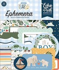 """-PRODOTTO IN PREORDINE- Echo Park  Ephemera """" Welcome baby boy """""""