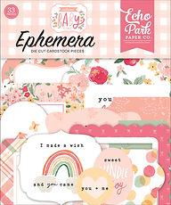 """Echo Park  Ephemera """" Welcome baby girl """""""