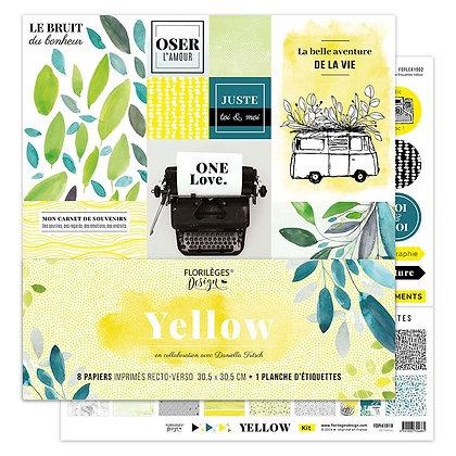 Florileges Design kit 8 carte collezione Yellow
