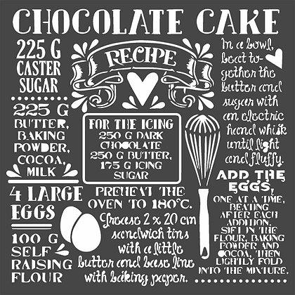 Stencil  Chocolate cake Collezione Sweety di Stamperia
