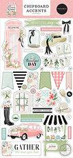 Carta Bella  Chipboard accents 6 x 13 Flower Garden
