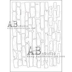 AB STUDIO  stencil Brick