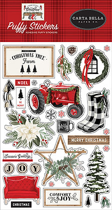 Carta Bella  Puffy stickerS FARMHOUSE CHRISTMAS