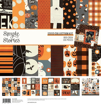 SIMPLE STORIES- BOO CREW - COLLECTION KIT