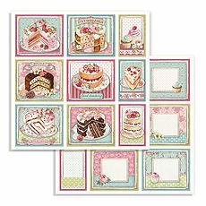 Foglio double face Cakes collezione Sweety di Stamperia