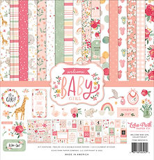 """Collection kit Echo Park 12 x 12 inch """" Welcome baby girl """""""