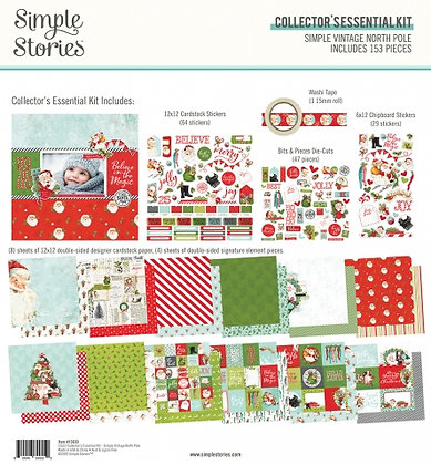 SIMPLE STORIES- SIMPLE VINTAGE NORTH POLE  -COLLECTOR'S ESSENTIAL KIT