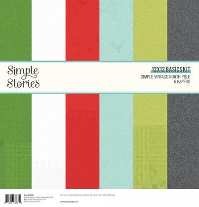SIMPLE STORIES- SIMPLE VINTAGE North Pole - BASIC KIT 12 X12