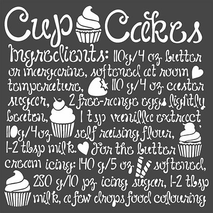 Stencil  Cupcake Collezione Sweety di Stamperia