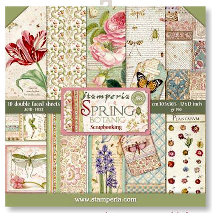 Pad scrapbooking  10 fogli collezione Spring di Stamperia