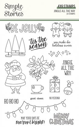 SIMPLE STORIES- JINGLE ALL THE WAY  -STAMPS