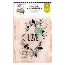 "Florileges Design Plancia embossing  "" Losange  nature"""