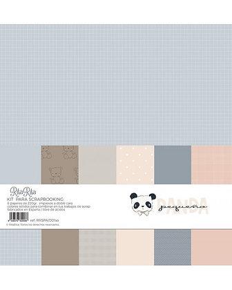 Rita Rita - Pequeno Panda  - Pad 6 carte vegetali 30,5 cm x 30, 5 cm