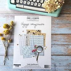 """Chou & Flowers - Paper pack A4 18 fogli """" Les junks Voyage Imaginaire """""""