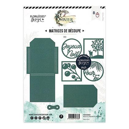 """Florileges Design fustella """" Pochette d' hiver """""""