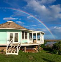 Rainbow over Bonefish Bluff