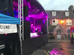 Trailer Stage and Lighting Hire