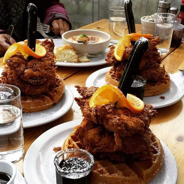 Screen Door - Portland, OR, United States. Just a lil chicken and waffle