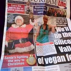 Mr Santa Claus makes the headlines ... again
