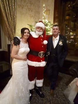 Mr Santa Claus at a wedding