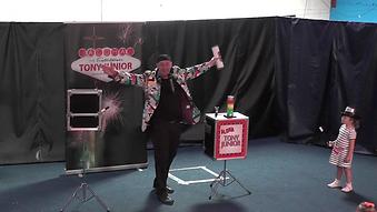 Tony Junior Stage Magician Stage Cabaret Magic Show