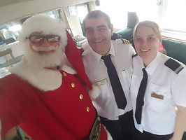 Mr Santa Claus onboard for a corporate function