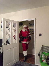 Santa Claus for hire for home visits father xmas visits