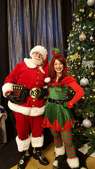 Mr Santa Claus & his elf for a corporate hotel