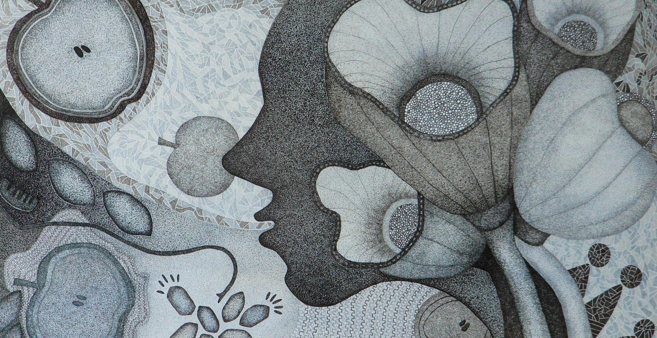 Kiss Flower (mixed media on canvas / 130.3×89.4)