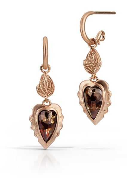 Sacred Heart Diamond Earrings
