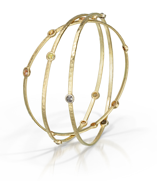 Diamond and 18k Gold Bangles